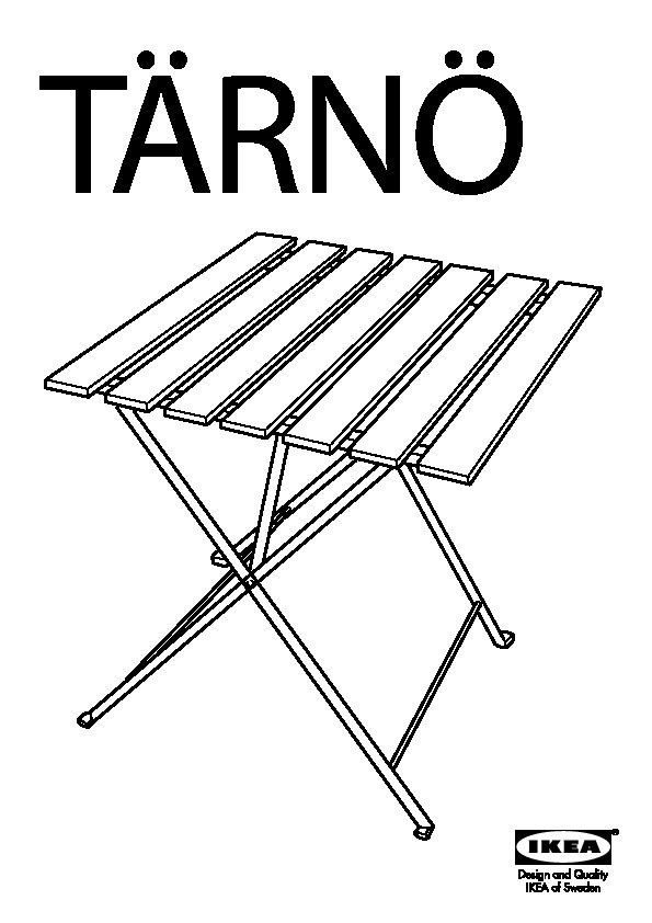 TÄRNÖ Table pliante