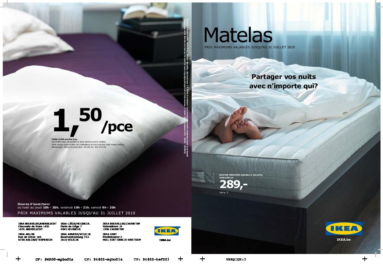IKEA Belgique - Matelas 2010