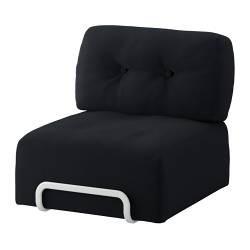 r rberg housse chauffeuse 1 place leaby noir ikea france. Black Bedroom Furniture Sets. Home Design Ideas