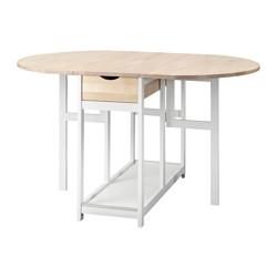 Hedesunda Drop Leaf Table White Birch Ikea United Kingdom Ikeapedia