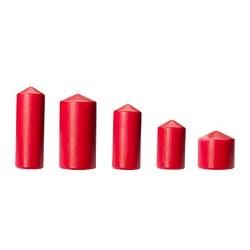 fenomen bougie bloc sans parfum 5pces rouge ikea france ikeapedia. Black Bedroom Furniture Sets. Home Design Ideas