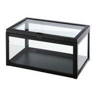 ok nd bo te verre transparent noir ikea france ikeapedia. Black Bedroom Furniture Sets. Home Design Ideas