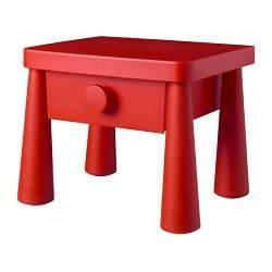 Mammut Table Chevet Rouge Ikea France Ikeapedia