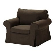 ektorp housse de fauteuil svanby brun ikea france ikeapedia. Black Bedroom Furniture Sets. Home Design Ideas