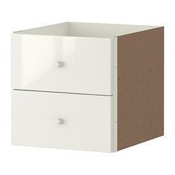 expedit bloc 2 tiroirs brillant blanc ikea france ikeapedia. Black Bedroom Furniture Sets. Home Design Ideas