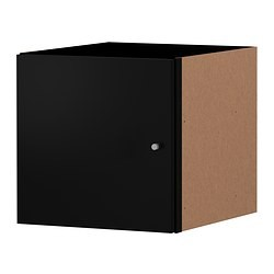 expedit bloc porte noir ikea france ikeapedia. Black Bedroom Furniture Sets. Home Design Ideas