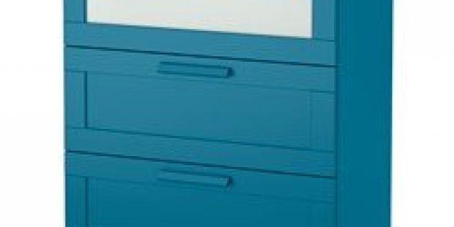Brimnes commode 3 tiroirs bleu vert fonc verre d poli ikea canada french ikeapedia - Commode brimnes ikea 3 tiroirs ...