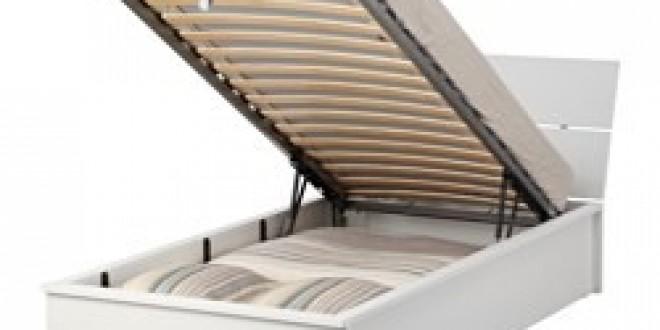 HERDLA Struttura letto con contenitore bianco (IKEA Italy) - IKEAPEDIA
