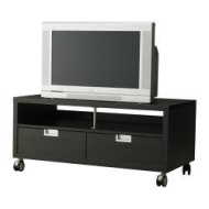 Best j gra meuble tv roulettes brun noir ikea france ikeapedia - Ikea meuble tv noir ...