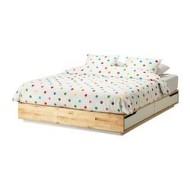 mandal cadre de lit tiroirs bouleau blanc ikea france