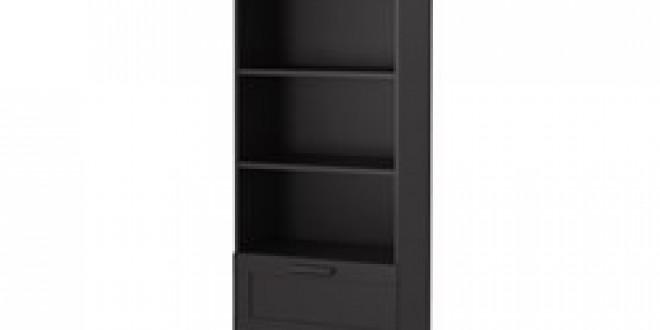 brimnes biblioth que noir ikea france ikeapedia. Black Bedroom Furniture Sets. Home Design Ideas