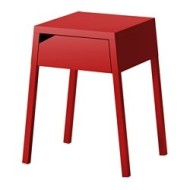 Selje Table De Chevet Rouge Ikea France Ikeapedia