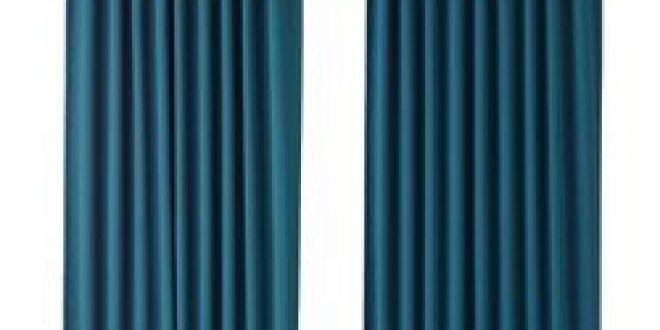 Majgull Block Out Curtains 1 Pair Blue Green Ikea Canada English Ikeapedia