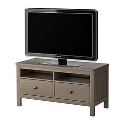 Hemnes banc tv gris brun ikea france ikeapedia for Meuble tv hemnes
