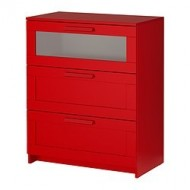 brimnes commode 3 tiroirs rouge ikea france ikeapedia. Black Bedroom Furniture Sets. Home Design Ideas