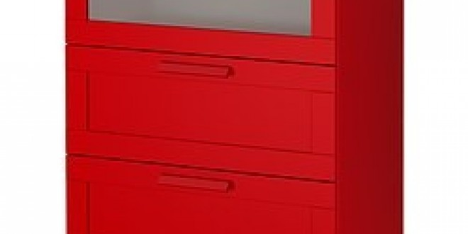 Brimnes 3 Drawer Chest Red Ikeapedia