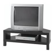 Lack Meuble Tv Dangle Brun Noir Ikea France Ikeapedia