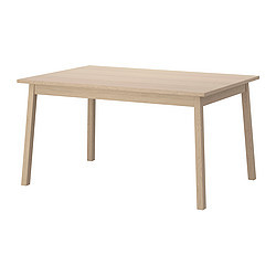 Tranetorp table extensible ch ne blanchi ikea france for Ikea chene blanchi