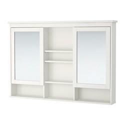 hemnes meuble miroir 2 portes blanc ikea france ikeapedia. Black Bedroom Furniture Sets. Home Design Ideas