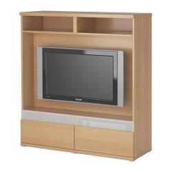 BESTÅ BOÅS Meuble TV motif hêtre (IKEA France) - IKEAPEDIA