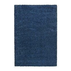 alhede tapis poils hauts bleu ikea france ikeapedia. Black Bedroom Furniture Sets. Home Design Ideas