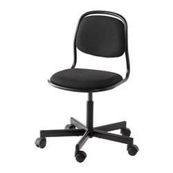 ÖRFJÄLL Chaise de bureau enfant blanc, Vissle rose