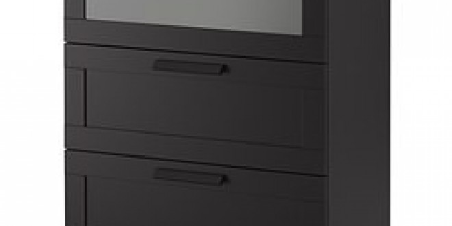 brimnes commode 3 tiroirs noir verre givr ikea france ikeapedia. Black Bedroom Furniture Sets. Home Design Ideas