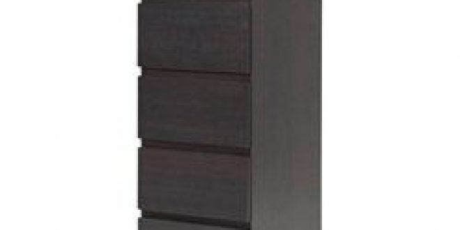 Malm commode 6 tiroirs brun noir miroir ikea canada for Miroir noir review