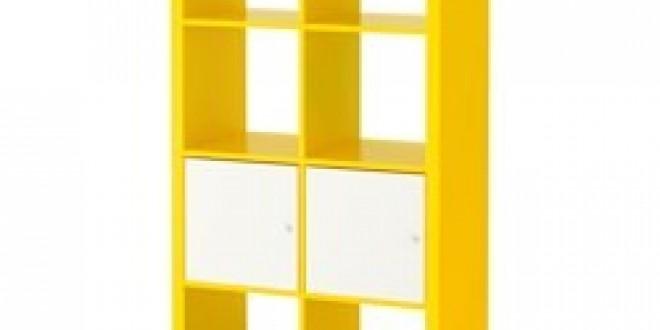 Kallax étagère Avec Portes Jauneblanc Ikea France Ikeapedia