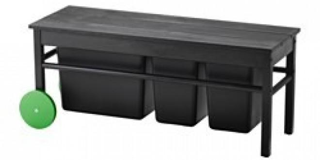 Anv ndbar panca per raccolta differenziata nero ikea for Ikea raccolta differenziata