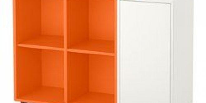 eket storage combination with feet white orange ikea united states ikeapedia. Black Bedroom Furniture Sets. Home Design Ideas