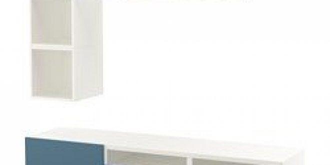 Bestå Eket Combinaison Rangement Tv Blanc Bleu Foncé Ikeapedia
