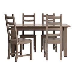 Stornas Kaustby Table Et 4 Chaises Gris Brun Ikeapedia