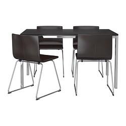BERNHARD Chaise, chromé, Kavat Mjuk brun foncé IKEA