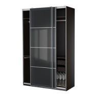 pax armoire av am nagements int rieurs brun noir uggdal verre gris ikea france ikeapedia. Black Bedroom Furniture Sets. Home Design Ideas