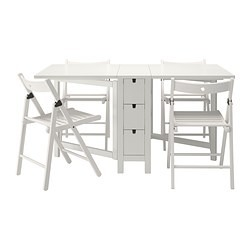 norden terje table et 4 chaises blanc ikea france ikeapedia. Black Bedroom Furniture Sets. Home Design Ideas