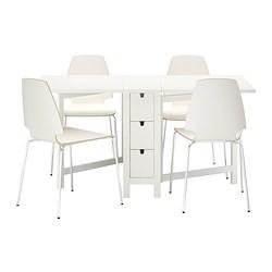 Norden Vilmar Table Et 4 Chaises Blanc Ikea France Ikeapedia