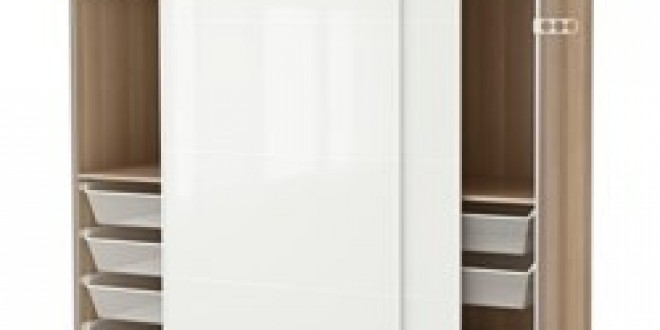 Affordable pax wardrobe white stained oak effect frvik white glass ikea united kingdom ikeapedia - Rail armoire coulissante ...