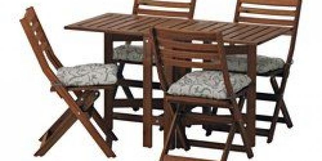 Pplar table 4 chaises pliantes ext rieur teint brun for Exterieur in french