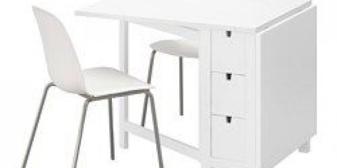 norden leifarne table et 2 chaises blanc blanc chrom ikea france ikeapedia. Black Bedroom Furniture Sets. Home Design Ideas