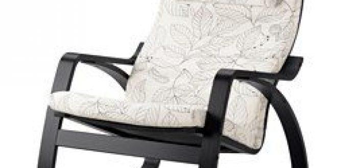 Ikea Poang Dondolo.Poang Sedia A Dondolo Marrone Nero Vislanda Nero Bianco