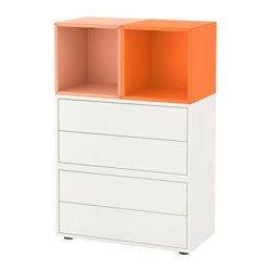 eket combinaison rangement avec pieds blanc orange clair orange ikea france ikeapedia. Black Bedroom Furniture Sets. Home Design Ideas