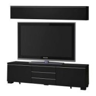 Besta Burs Tv Storage Combination High Gloss Black Ikea United