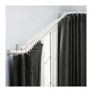 hugad set tringle à rideaux d angle blanc ikea ikeapedia