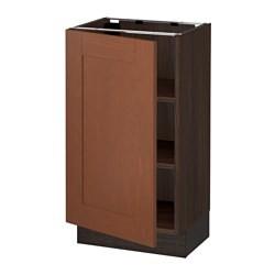 sektion base cabinet with shelves brown grimsl v medium brown ikea united states ikeapedia. Black Bedroom Furniture Sets. Home Design Ideas