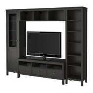 Velsete HEMNES TV storage combination black-brown (IKEA United States ZX-94