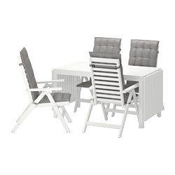 Pplar tavolo 4 sedie relax da giardino bianco h ll grigio ikea italy ikeapedia - Sedie relax ikea ...