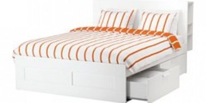 Brimnes struct de lit rangement t te de lit blanc ikea - Tete de lit ikea brimnes ...
