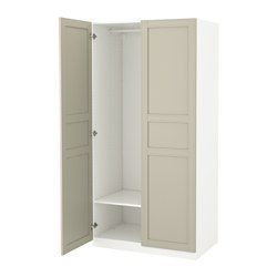 pax armoire penderie blanc flisberget beige clair ikea belgium ikeapedia. Black Bedroom Furniture Sets. Home Design Ideas