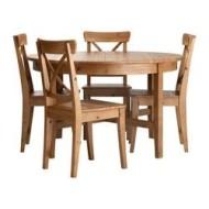 Leksvik Ingolf Table Et 4 Chaises Teint Anc Ikeapedia